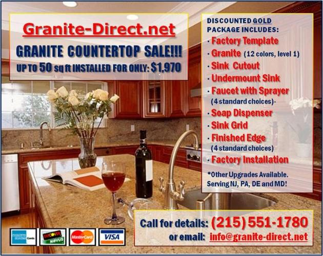 Granite Kitchen Countertops Package $1970 up to 50 sq