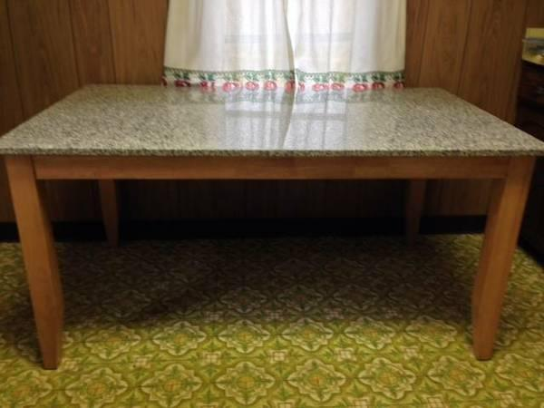 Granite top dining room table 36 x 60 for sale in duluth for Dining room table 60 x 36