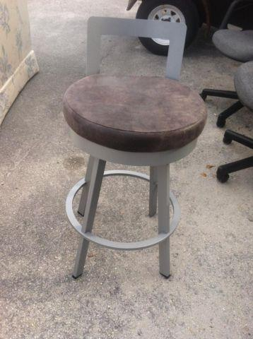 Gray Swivel Bar Stool For Sale In Fort Lauderdale Florida