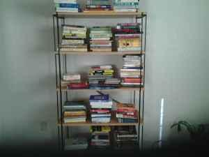 Great collection of books and bookshelf- Moving and