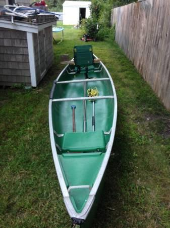 Great Condition 17ft Coleman Canoe Aluminum Framed Quality