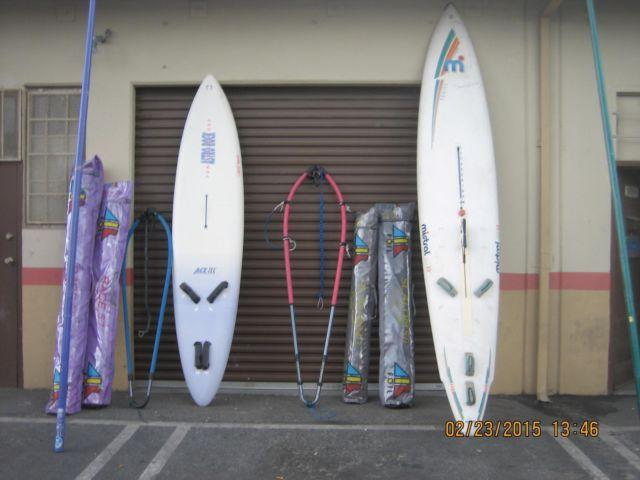 GREAT CONDITION ( 2 ) COMPLETE SETS OF WINDSURFER MISTRAL & ASTRO ROCK