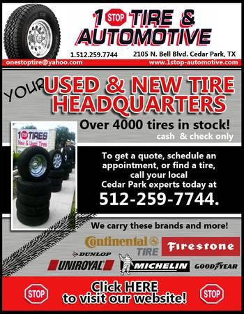 Great Prices On New Used Tires Call Us For Sale In Leander