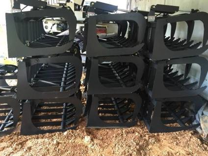 GREAT PRICES on skidsteer attachments. Grapples buckets