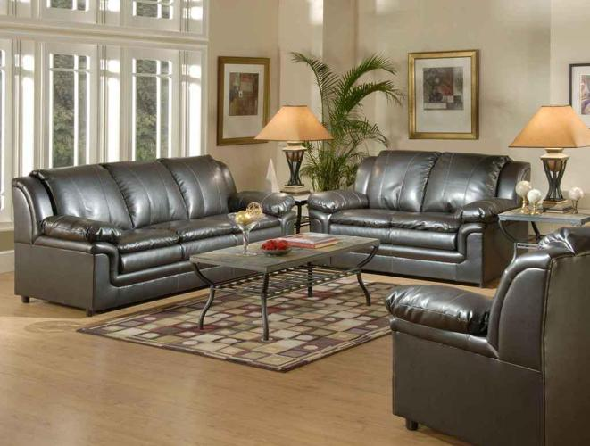 Great Quality Serta Brand Leather Sofa And Love Seat Set