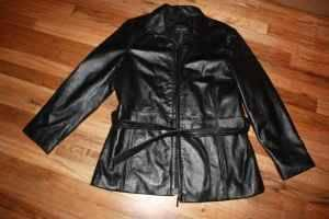 great xmas gift ....cute womens leather coat size xl -look - $40 eugenecg