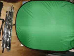 green/blue backdrop-stands - $85 (cleveland)