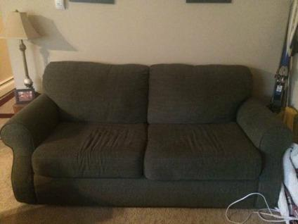 Green Couch Loveseat With Hide A Bed For Sale In Denver Colorado Classified