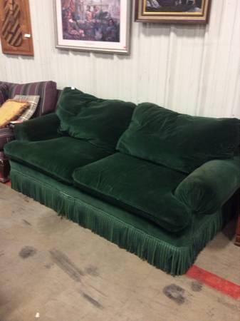 Green Velvet Sofa For Sale In Asheville North Carolina
