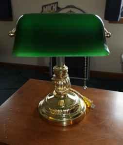 green glass shade banker 39 s lamp gorgeous desk lamp