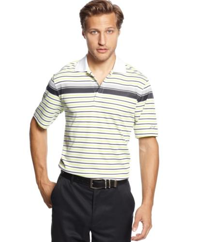 Greg norman for tasso elba golf shirt slim fit engineered for Slim fit golf shirts