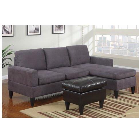 grey 3pcs reversible sofa set with ottoman for sale in los a