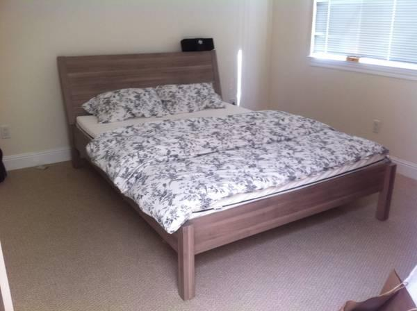 Grey Ikea Nyvoll Queen Bed For Sale In Brisbane California