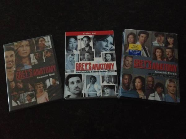 Grey's Anatomy Seasons 1-2-3 on DVD - $25