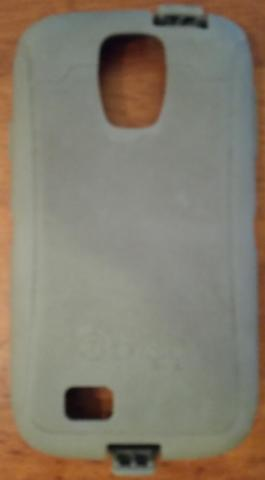 Grey Samsung S4 Cell Phone Otterbox Defender Rubber