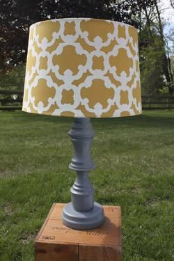 Grey table lamp, Uniquely Anew