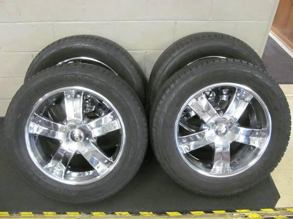 """Hummers For Sale >> GROUP OF FOUR 20"""" WHEELS WITH BRIDGESTONE DUELER H/D 275"""