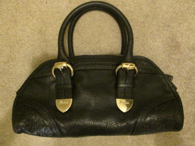 Gucci Guccissima Black Leather Handbag