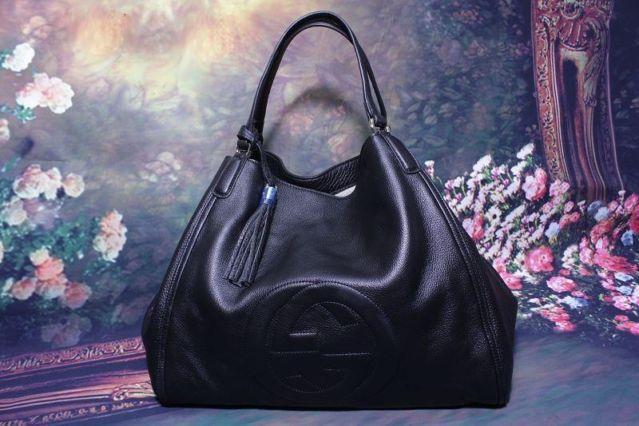 Gucci Handbag Black White