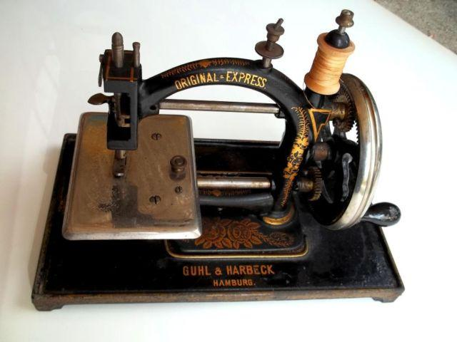 GUHL AND HARBECK HAND CRANK SEWING MACHINE For Sale In Altadena Impressive Hand Crank Sewing Machines For Sale