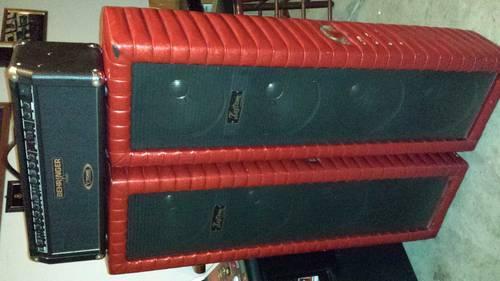 Guitar amp and vintage kustom speakers