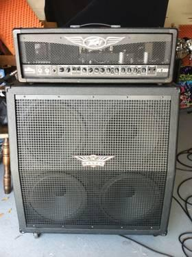guitar amp peavey 100watts tube half stack 4x12 cab for sale in orlando florida classified. Black Bedroom Furniture Sets. Home Design Ideas