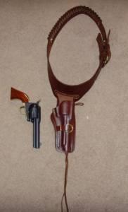 Gun belt with Holster - $80 Juliaetta