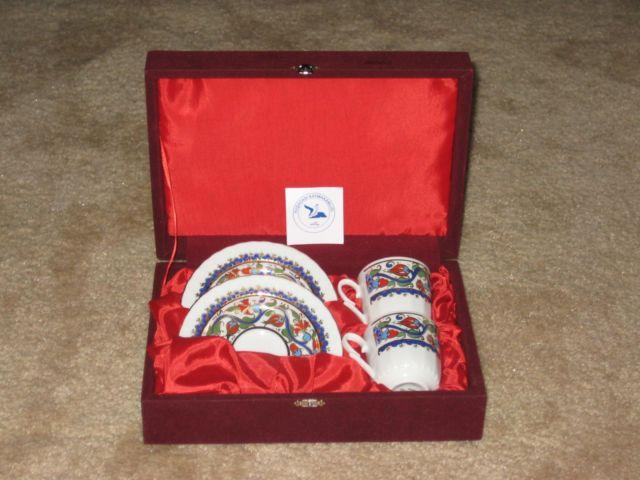 GURAL PORSELEN Porcelain Set of 2 Cup & Saucer