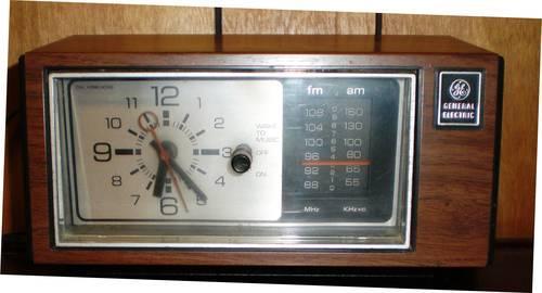 GW 31 Vintage General Electric Alarm Clock Radio-Wet Tunes Radio