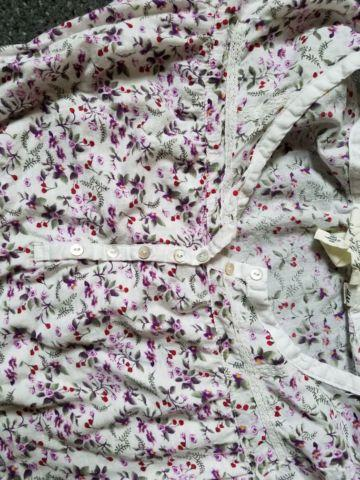 H and M floral button shirt