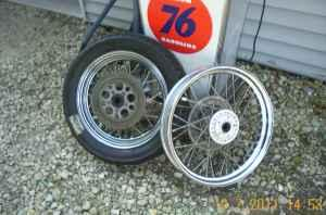H_D Spoke wheels 16+19 - $150 (Ashton)