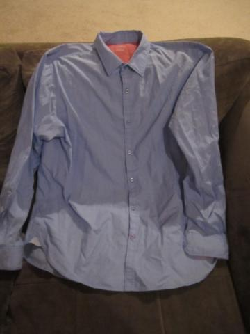 Haggar blue long-sleeved mens shirt, size XL