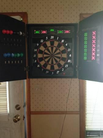 Halex Electronic Dartboard in Beautiful Wooden Cabinet : electronic dartboard in cabinet - Cheerinfomania.Com