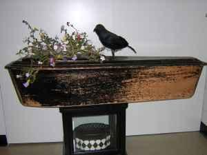 halloween coffin 1800s childs casket funeral vampire