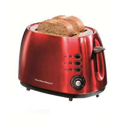 Hamilton Beach 2-Slice Metal Toaster in Red