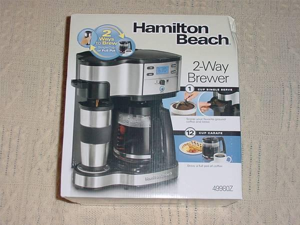 Hamilton Beach 49980z Two Way Brewer Single And 12 Cup Coffee