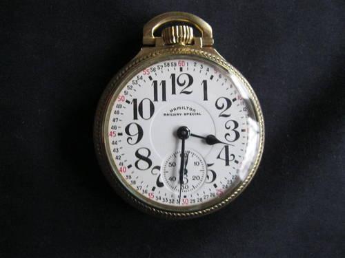 Hamilton Railway Special 21 Jewel pocket watch...Excellent  Condition