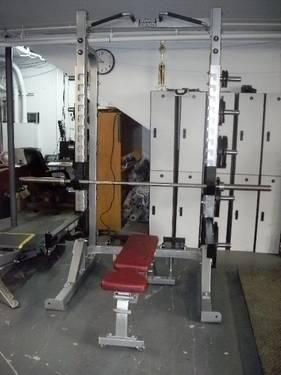 hammer strength half power rack w adjustable bench hdhr8 for sale in seekonk massachusetts. Black Bedroom Furniture Sets. Home Design Ideas