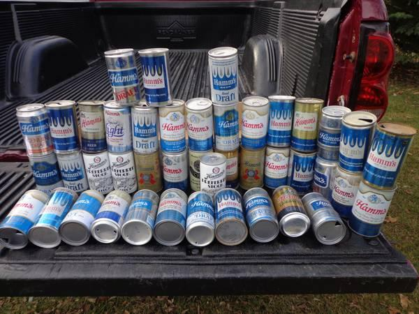 Hamms Beer can collection,1966 and back - $55