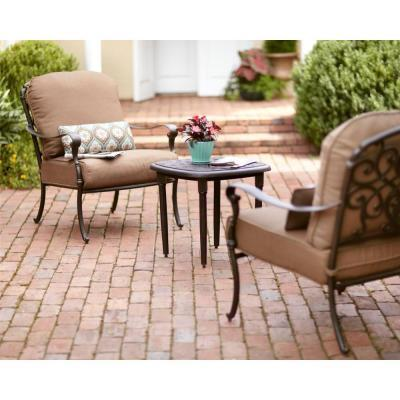 Hampton Bay Edington 3 Piece Patio Chat Set With
