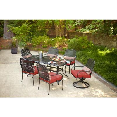 Hampton Bay Fall River 7 Piece Patio Dining Set With