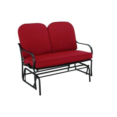 Hampton Bay Fall River Patio Double Glider With Dragon