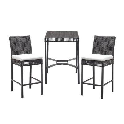 Hampton Bay Fenton 3 Piece High Patio Bistro Set With Bare Cushions