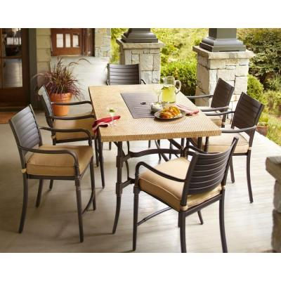 Hampton Bay Madison 7 Piece Patio High Dining Set With