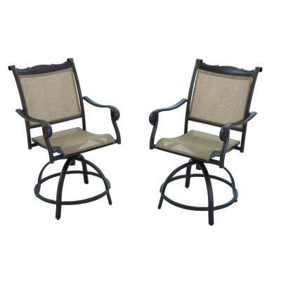 Hampton Bay Westbury Patio Swivel High Dining Chairs