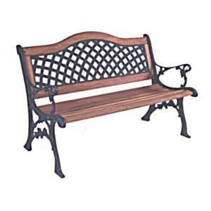Hampton Bay Wood Weave Patio Bench New In BOX   $60