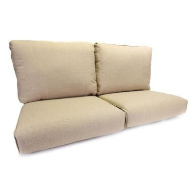 Hampton Bay Woodbury Beige Replacement Patio Loveseat