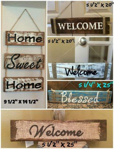 Hand crafted pallet signs trays benches picture frames for Home decor 77429