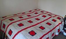 Hand made crocheted bedspread