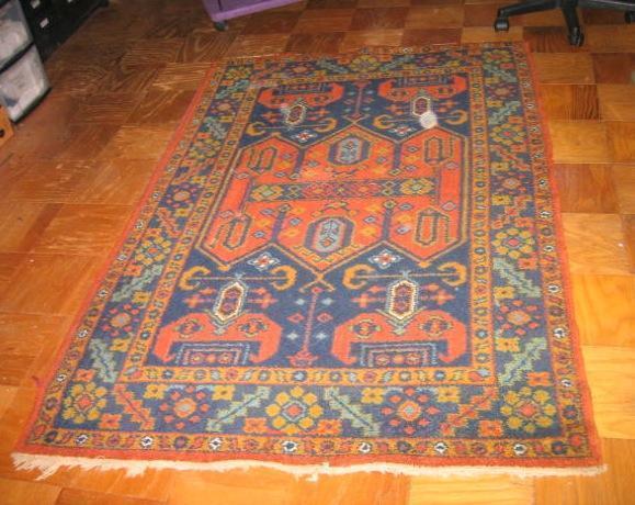 Hand made rug, vibrant colors, bonus smaller rug
